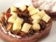 茶花豆とりんごのベーグルサンド