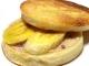 バナナのイングリッシュマフィンサンド