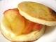 りんごのイングリッシュマフィンサンド