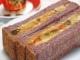 紫米粉パンを使ったラタトゥイユのサンドイッチ